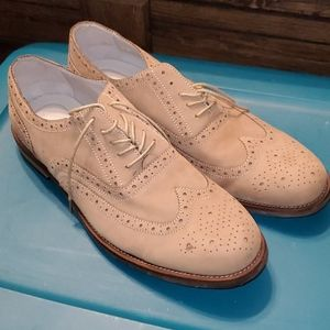 "Men's 13M Tan Calvin Klein ""Anya"" Oxford Shoes"